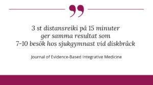 distansreiki ger samma resultat som besök hos sjukgymnast